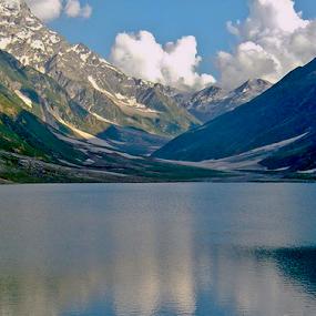 Lake Saiful Muluk  by Samer Shaur - Landscapes Mountains & Hills ( pwcwinter, reflection, mountain, saiful muluk, lake )