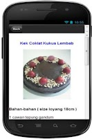 Screenshot of Resepi Kek Coklat Kukus Sedap