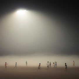 Football in the mist.... by Nibedan Pathak - Sports & Fitness Soccer/Association football