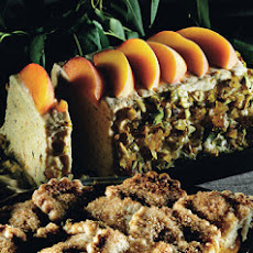Peach and Pistachio Praline Semifreddo