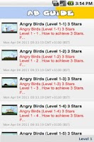 Screenshot of Angry Birds Guide