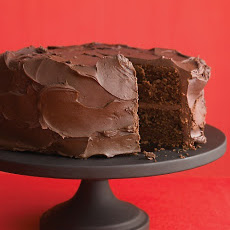 Dark-Chocolate Cake with Ganache Frosting
