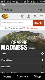 Shop Bass Pro - screenshot