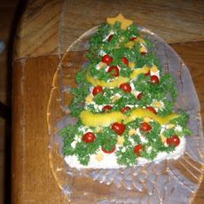 Christmas Cheese Tree Appetizer
