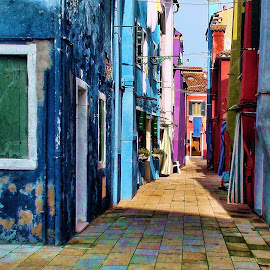 Narrow Street in Burano by Lux Aeterna - Instagram & Mobile Android