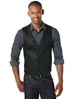 Perry Ellis Black Fashion Vest