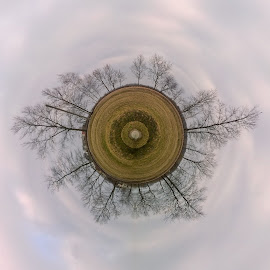 TinyPlanet by Endijs Gūtmanis - Instagram & Mobile Other ( clouds, creative, trees, tinyplanet )