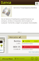 Screenshot of Bankia