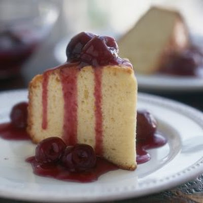 Olive Oil Cake with Cherry Compote