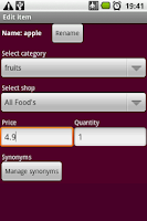 Screenshot of Shopping Manager