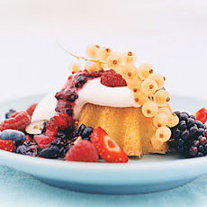 Lemon Sun Cakes with Berries and Cream