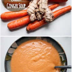 Vegan Creamy Carrot Ginger Soup