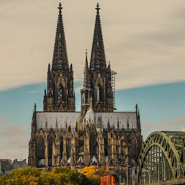 Kölner Dom by Daniel Chobanov - City,  Street & Park  Historic Districts ( cologne, rhein, germany, köln, kölner dom, bridge )