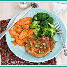 Asian Apricot Glazed Pork Chops