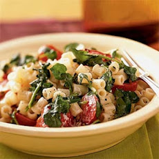 Pasta with Watercress, Tomatoes, and Goat Cheese