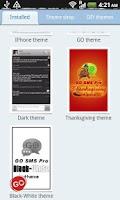 Screenshot of GO SMS Pro Black-White theme