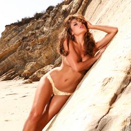Gold leaf body paint by Chris Hughes - Nudes & Boudoir Artistic Nude ( model, implied, beach, gold, bodypaint )