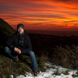 Sunset Portrait #1 by Simon Pickles - People Portraits of Men ( canon, flash, speedlight, ocf, speedlite, f2.8, strobist, camera, 7d, off, 2mm, strobism, strobe )