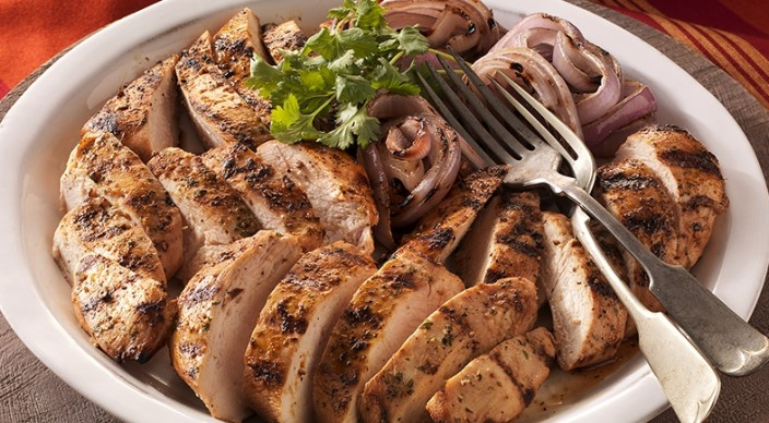 Citrus-Marinated Chicken Breasts with Grilled Red Onions Recipe ...