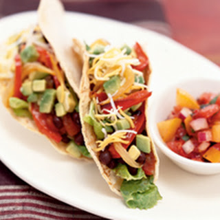 Black Bean Tacos with Roasted Peppers and Onions