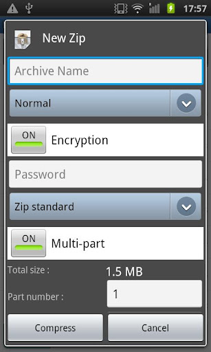 Easy Unrar Unzip & zip (noads) - screenshot