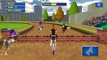 Screenshot of Horse Race 3D