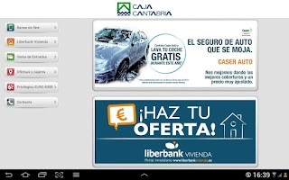 Screenshot of Banca Online Caja Cantabria