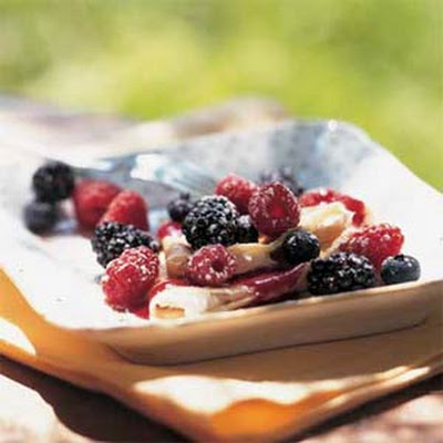 Blackberry-Cream Cheese Crepes