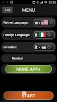 Screenshot of Italian lessons (free & fun)