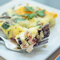 Ham, Cheese & Mushroom Frittata (Low Carb & Gluten Free)