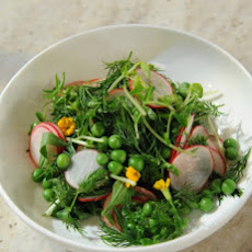 Spring Salad with Herbs, Radish, and Peas
