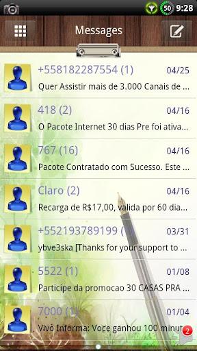 Work Desk GO SMS Theme