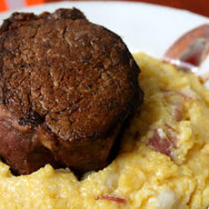 Beef Tenderloin with Pancetta and Hominy Polenta Recipe