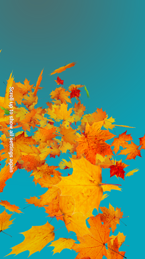 Autumn Leaves Live Wallpaper Screenshot 15