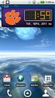 Screenshot of Clemson Tigers Clock Widget