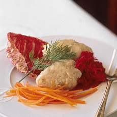Gefilte Fish with Fresh Beet Horseradish