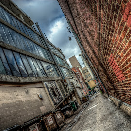 Old Alley by Nick Neben - City,  Street & Park  Street Scenes ( lincoln, hdr, alleyway, nebraska, alley )