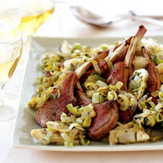 Lamb with Leeks 'n' Artichokes and Lemon Rice