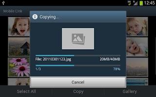 Screenshot of Samsung SMART CAMERA App