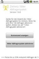 Screenshot of Zielnetz 100 Abfragen