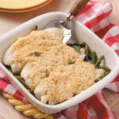 Asparagus Fish (cod, haddock or orange roughy) Bake
