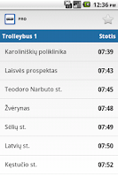 Screenshot of Transport in Vilnius PRO