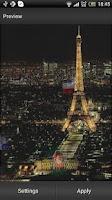 Screenshot of Eiffel Tower Live Wallpaper
