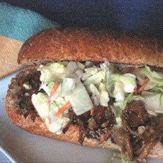 Shredded BBQ Pork & Cole Slaw Sandwiches