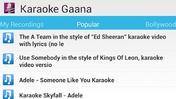 Screenshot of Indian Karaoke Free