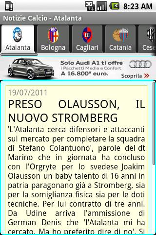 Notizie Calcio Serie A 2014-15