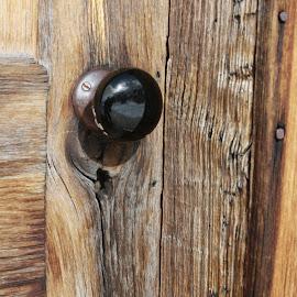 Ghost town door  by Mark  Worden - Buildings & Architecture Decaying & Abandoned ( ghost-town, wood, doorknob, door, decay )