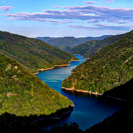 Nestos by Stratos Lales - Landscapes Travel ( clouds, water, hill, sky, river )