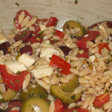 Orzo / Tomato Salad with Feta and Olives