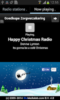 Screenshot of Christmas RADIO
